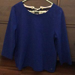 NWOT Cobalt Blue Tommy Hilfiger  3/4 Sweater
